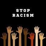 Stop racism. Hands
