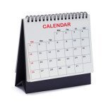 Desk Top Tent Calendar Isolated on White Background.